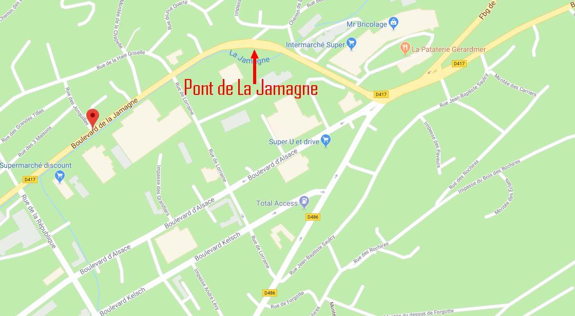 le pont de la Jamagne à Gérardmer
